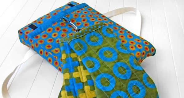 Porta-travessa em tecido é lindo e prático (Foto: sew4home.com)