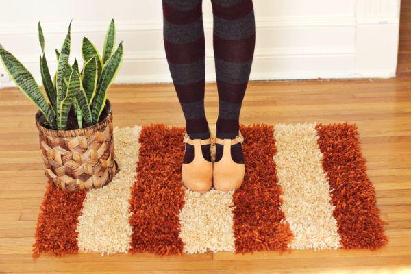 Invista em tapete de lã para todos os cômodos de seu lar (Foto: abeautifulmess.com)