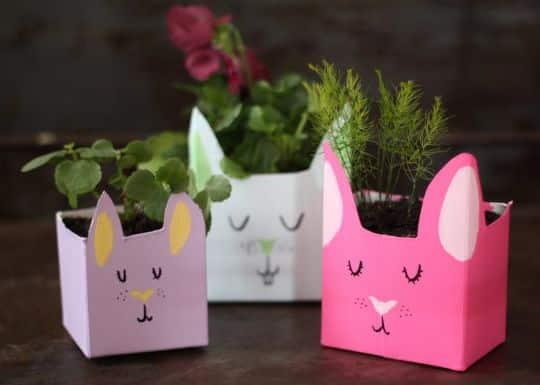 Fazer vaso de plantas com embalagem de suco é um lúdico passatempo (Foto: 17apart.com)