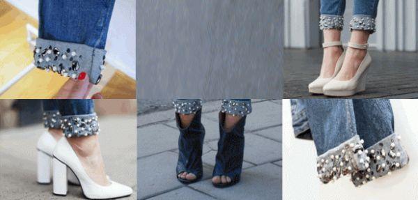 Aprenda  6 maneiras diferentes de  customizar a barra de suas calças