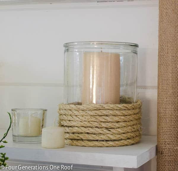 Porta-velas fáceis de fazer pode ter vários tamanhos (Foto: fourgenerationsoneroof.com)
