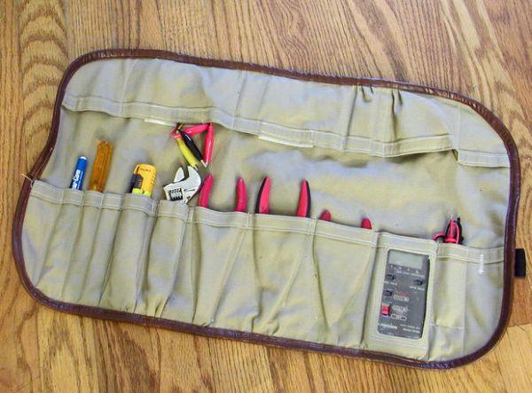 Porta-ferramentas de tecido é prático e não ocupa espaço (Foto: instructables.com)