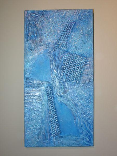 Voce também pode vender este quadro com textura acrílica (Foto: blukatkraft.blogspot.com.br)