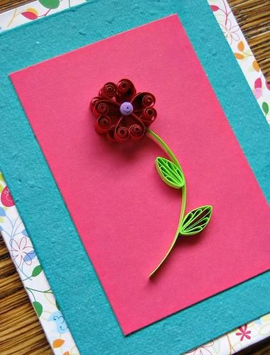 Flor de quilling fácil é linda e também barata (Foto: en.paperblog.com)