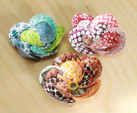 Flores com círculos de papel além de baratas são diferenciadas (Foto: worldofpineapple.com)