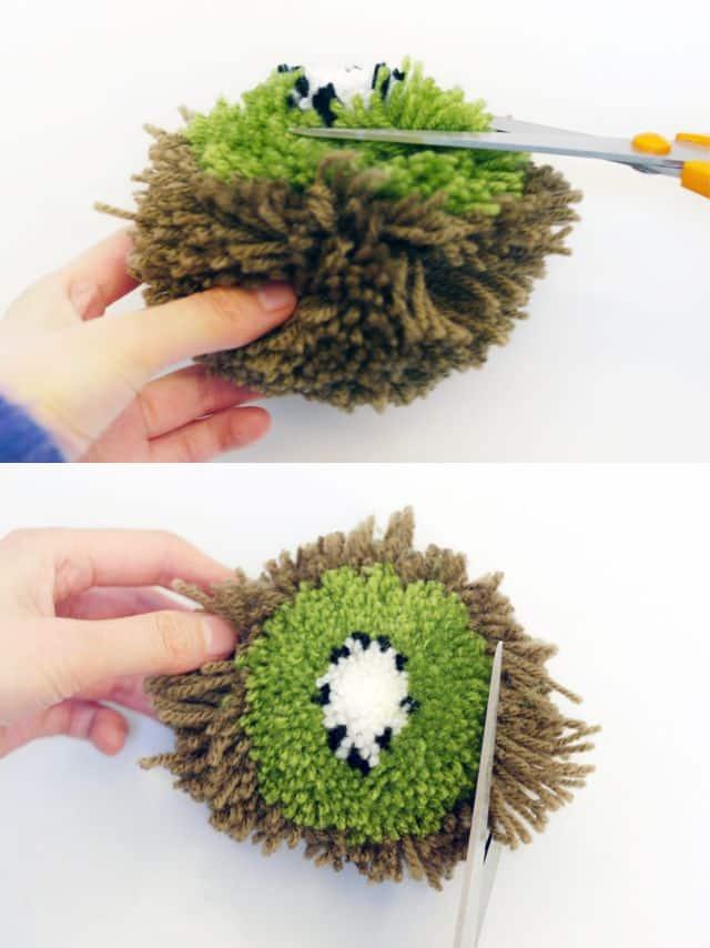 3e410d7886a8a Como Fazer Frutinhas de Pompom Passo a Passo 5 - Como fazer artesanatos