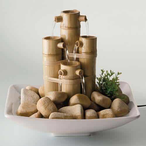 Como fazer artesanato com bambu - Fuentes de agua interior ...