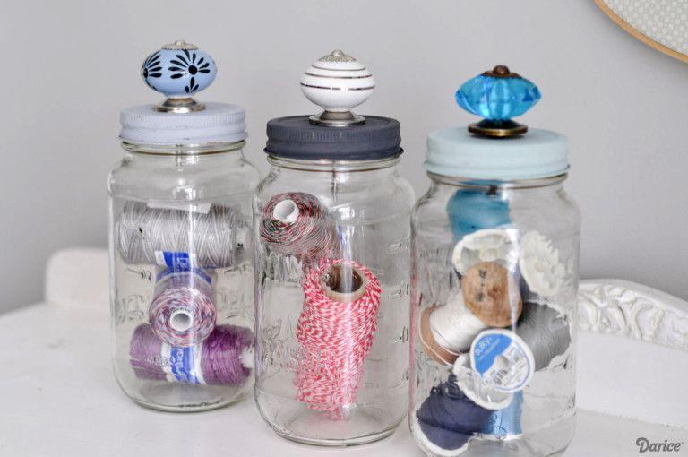 Artesanato com Reciclagem de Potes