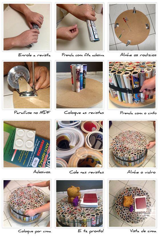 Andrea Artesanato Goiania ~ Como Fazer Artesanatos com Revistas Velhas