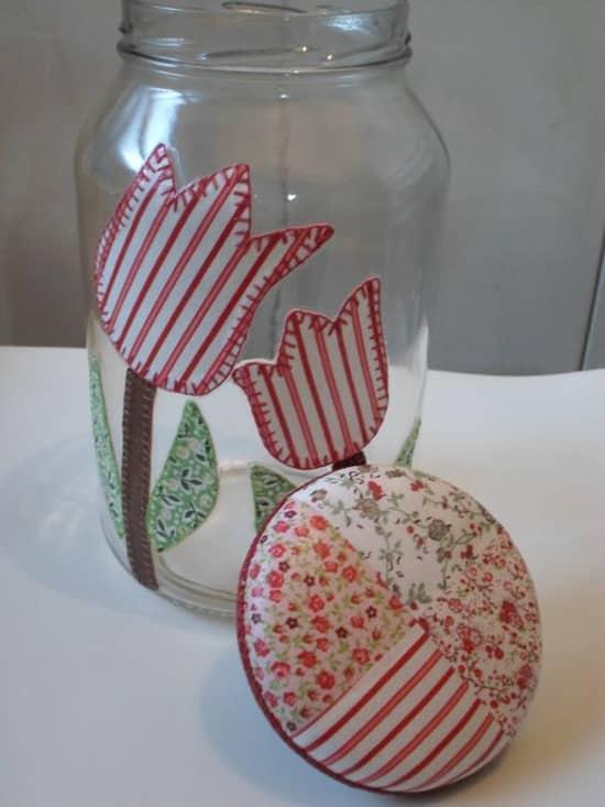 Aparador Feito De Paletes ~ 10 Ideias de Como Fazer Artesanato com Potes de Vidro Usados