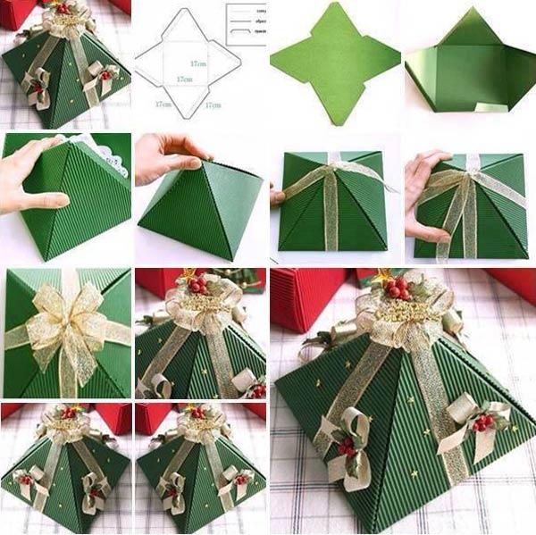 Como Fazer Caixas Decorativas Para Presentes De Natal