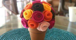 Dicas de Topiaria com Flores de Feltro