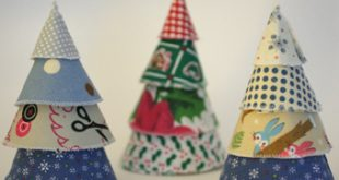 Dicas de Árvore de Natal Simples com Tecido