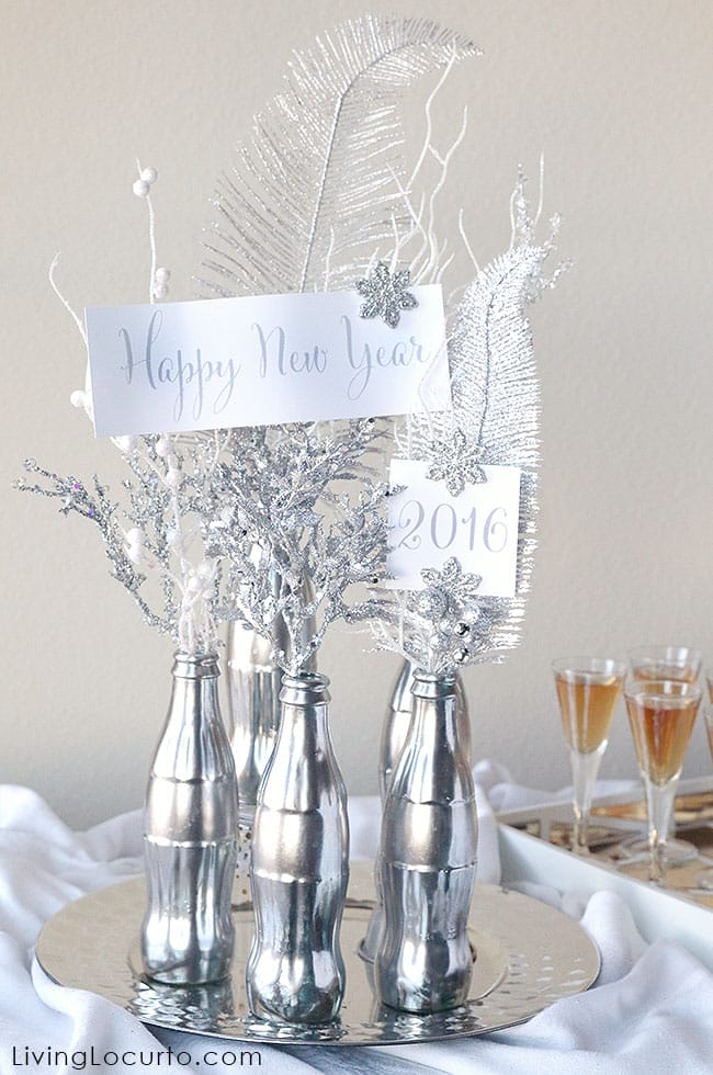 Como Fazer um Enfeite de Ano Novo com Garrafa