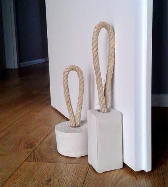 como fazer peso de porta passo a passo. Black Bedroom Furniture Sets. Home Design Ideas