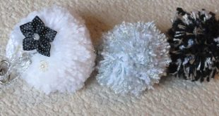 Opções de Chaveiro de Pompom de Lã