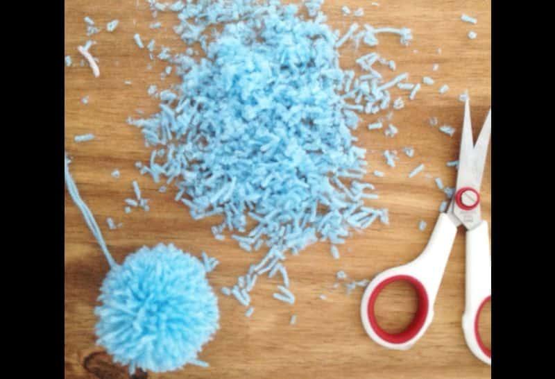 Dicas de Chaveiro de Pompom de Lã