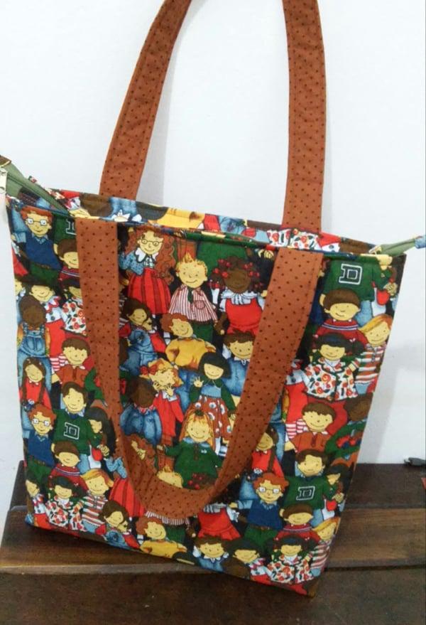 bolsa com tecido com alça
