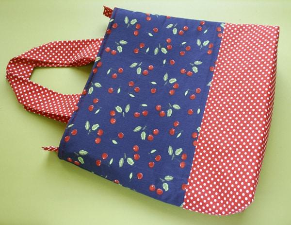 bolsa com tecido duas cores