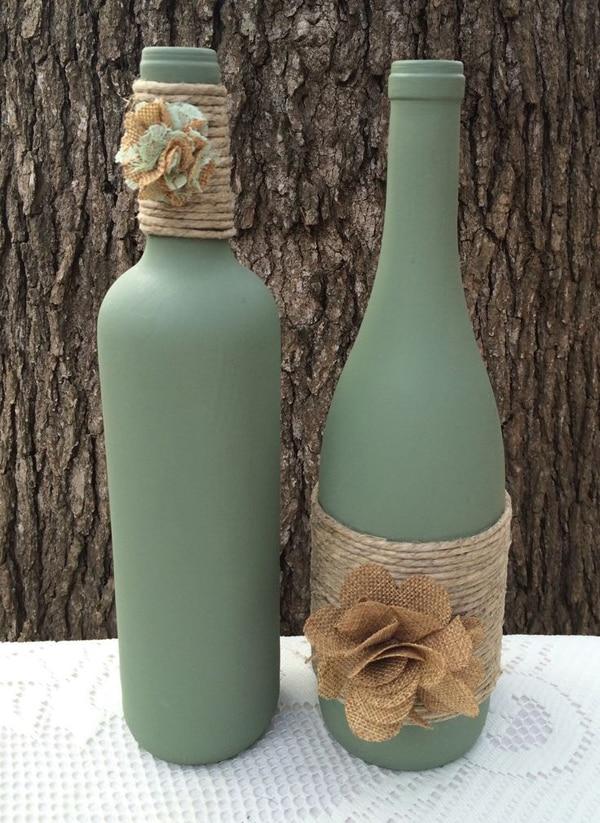 garrafa com sisal