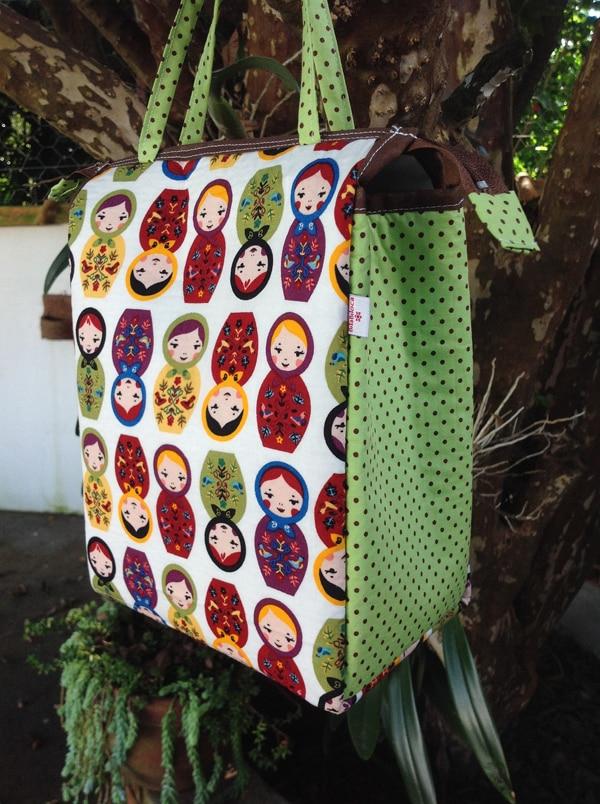bolsa com tecido bonecas