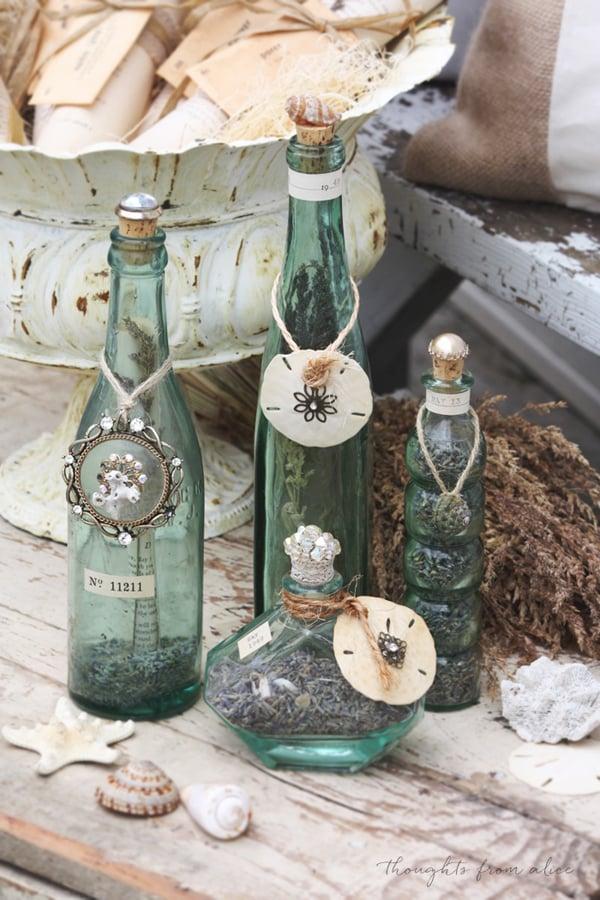 garrafa com pingente