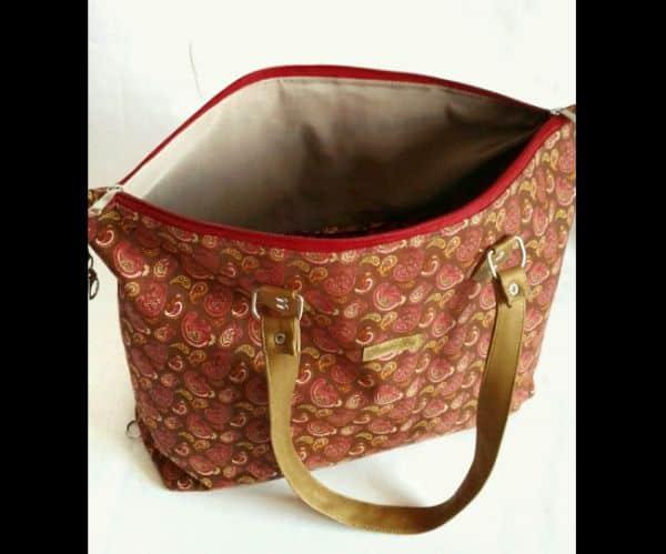 bolsa com tecido com forro