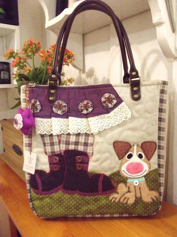 bolsa com tecido cachorro