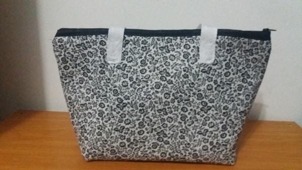 bolsa com tecido flor