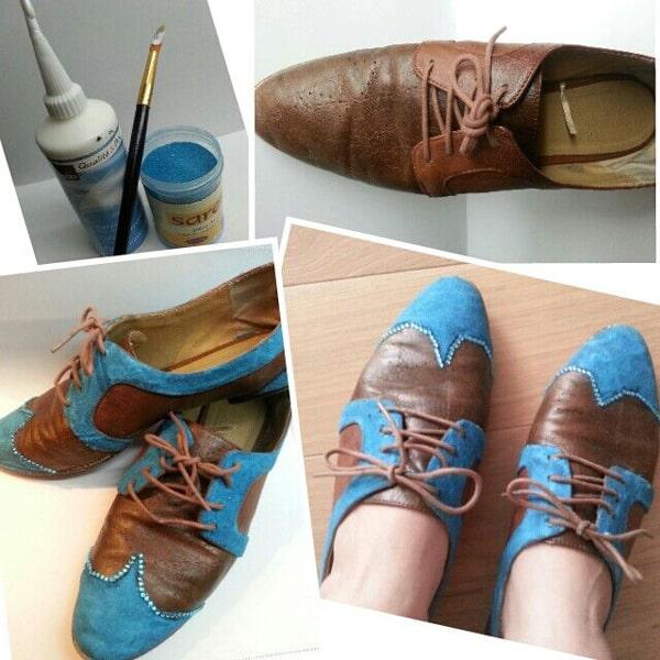 customização de calçado com 2 cores