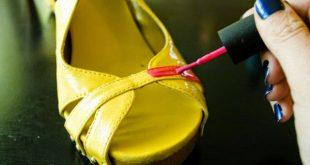 customização de calçado com esmalte