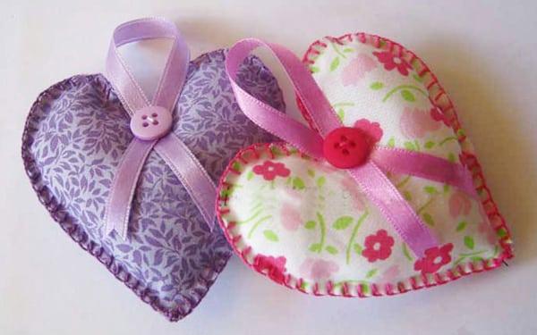 sache aromatico de coração de tecido