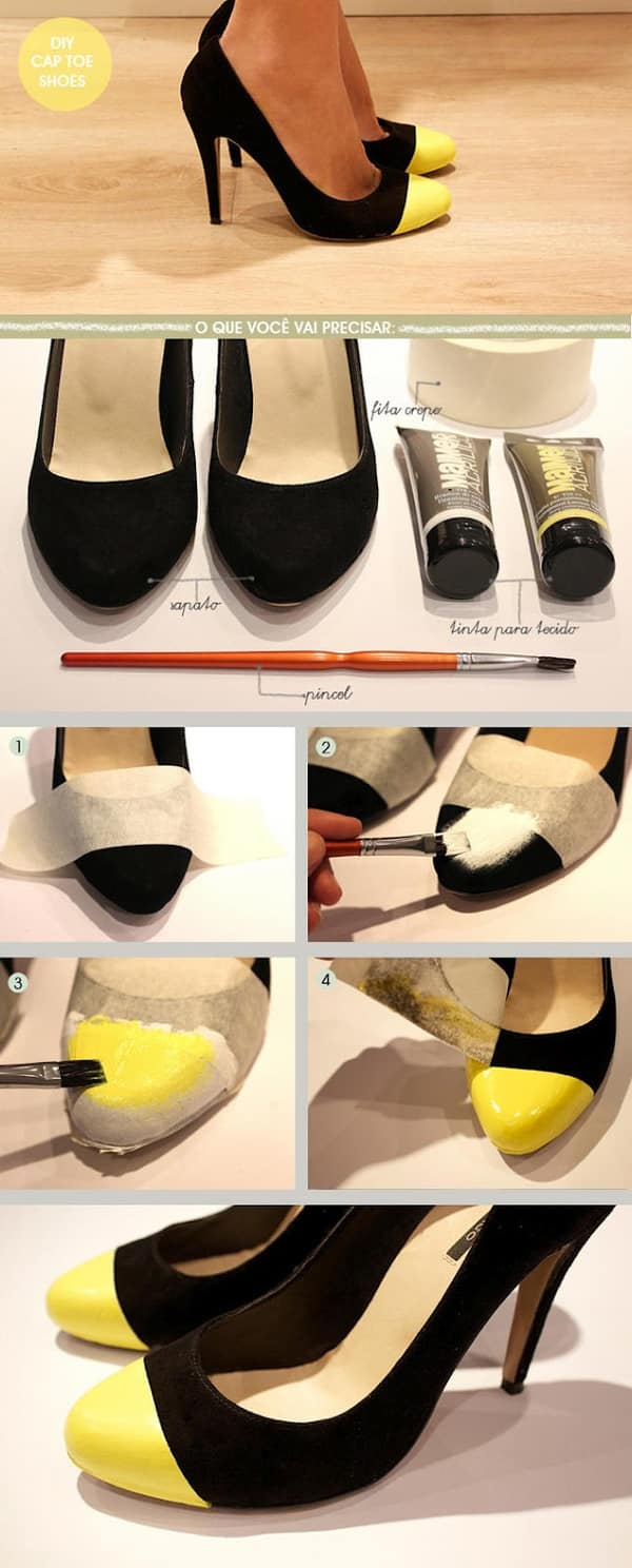 customização de scarpin