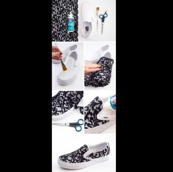 customização de calçado com tinta