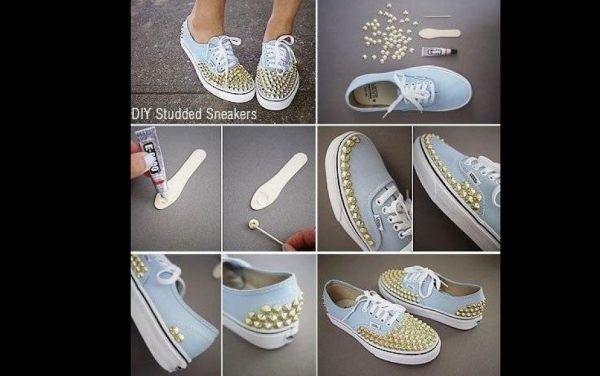 customização de calçado com spike