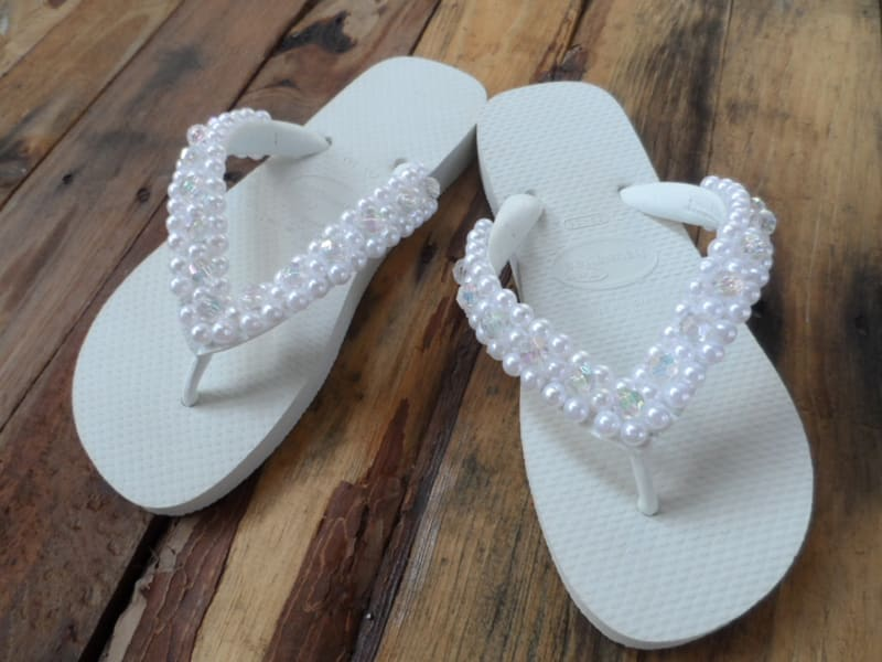 3491532074c661 Chinelo Decorado com Pérola