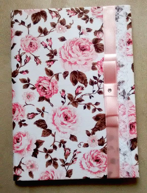 capa de caderno floral