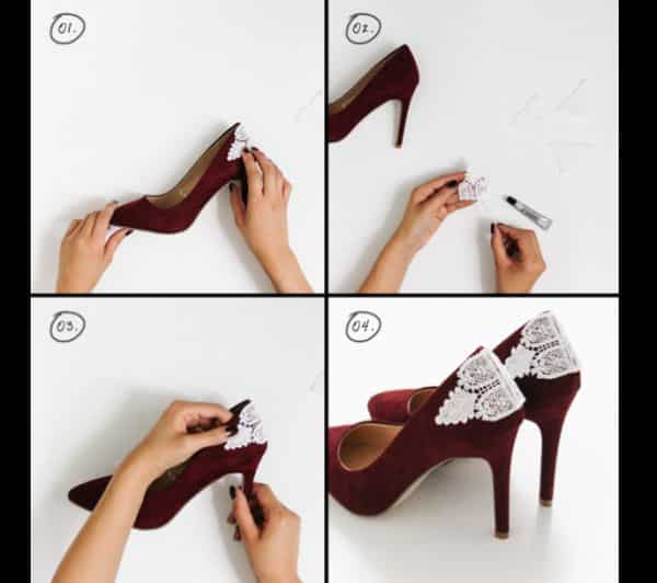 customização de calçado com passamanaria