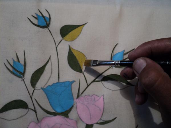 pano de prato pintado tutorial