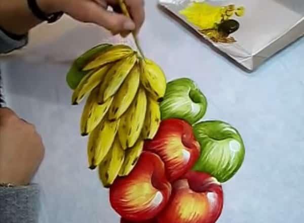 pintura em tecido banana