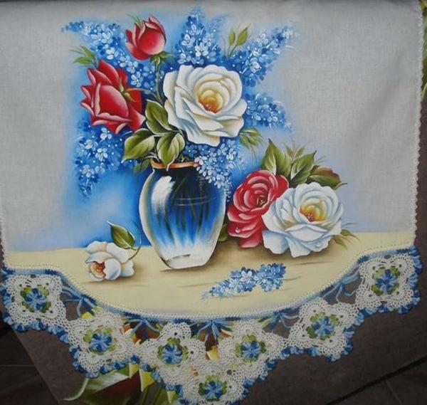 pintura em tecido copo