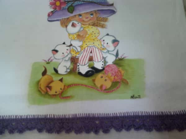 pintura em tecido menina