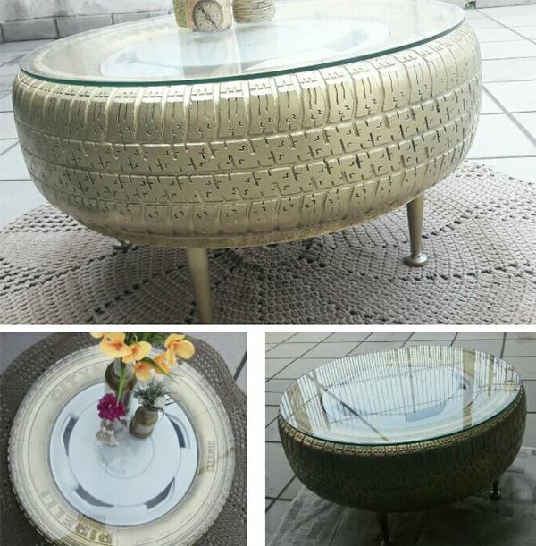mesa com pneu gelo