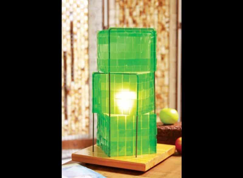 abajur de garrafa pet verde
