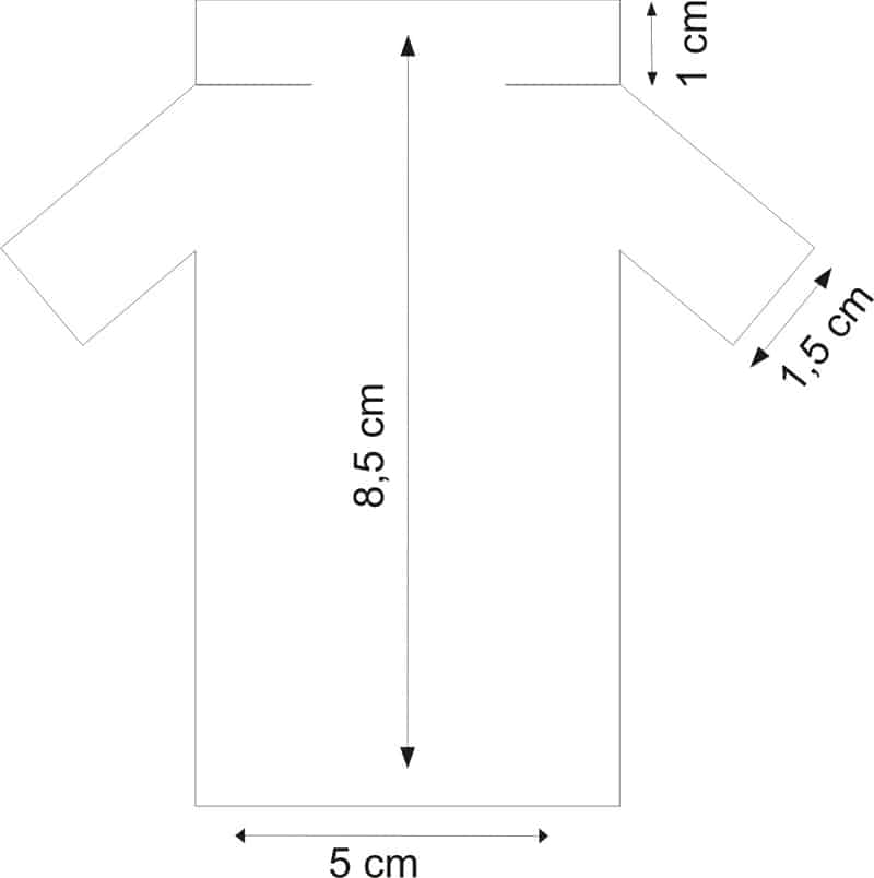 porta bombom de eva molde camisa