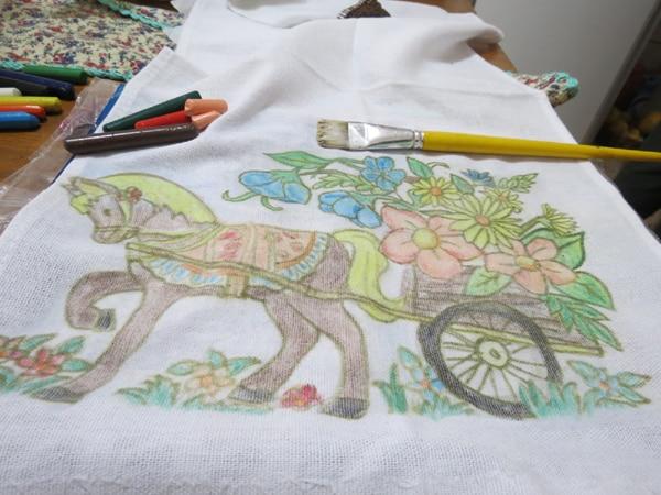 pintura com giz de cera passo a passo