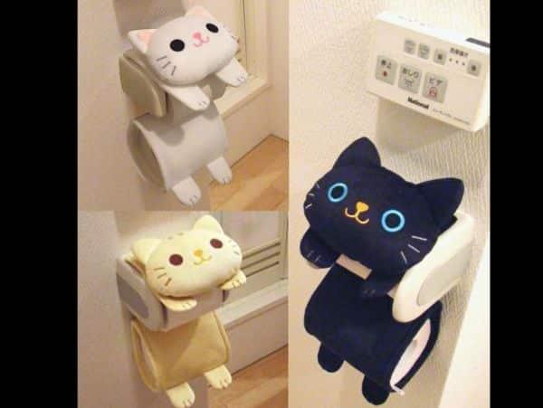 porta papel higiênico de gatinho