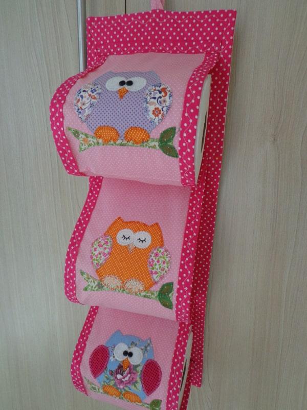 porta papel higiênico pink