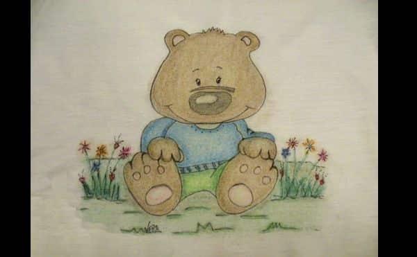 pintura com giz de cera urso