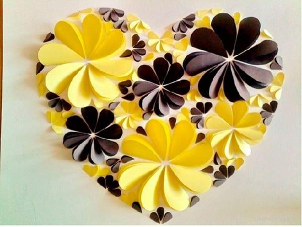 coração de flores como fazer